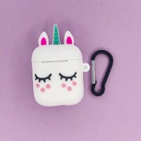 "5783029 Чехол для airpods ""Sleeping unicorn"", white"
