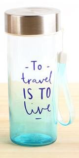"2099A:380ML БУТЫЛКА ""To travel-is to live""_blu"