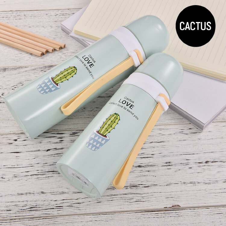 B-HS-6720-Z ТЕРМОС CACTUS light-blue, 500ml (M-6718)