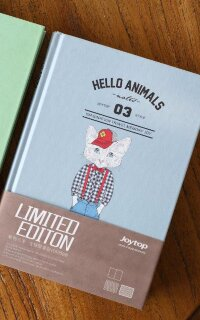"JZNB A5 116-8227 БЛОКНОТ ""Hello Animals"" blue"