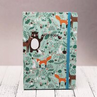 "BG A5-714-2 БЛОКНОТ ""Winter animals"" green"