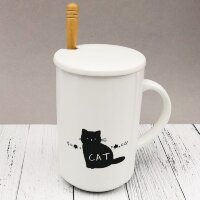 "yd2039a-04 КРУЖКА ""My cat""(black) (380ml)"